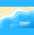 summer travel concept abstract background blue vector image