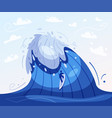 surfing concept cartoon vector image