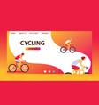 triathlon track cycling website design cartoon vector image vector image