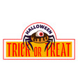 trick or treat logo cartoon style vector image