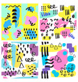 universal memphis seamless pattern endless vector image vector image