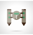 Unmanned robot flat color design icon vector image vector image