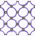 watercolor sloppy circles seamless pattern vector image
