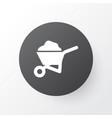 wheelbarrow icon symbol premium quality isolated vector image vector image