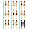 Womens swimsuit types vector image vector image