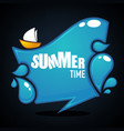 summer time glossy and shine cartoon banner vector image