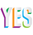Yes Text vector image