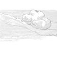 Retro cloudscape vector image