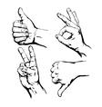 Set of Symbol Hands vector image