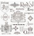 Set of Vintage Royalty Design Elements vector image
