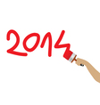 2014 year with paint color vector image vector image
