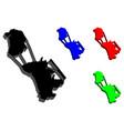 3d map of macau vector image