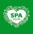 Abstract logo for Spa salon in the form of heart vector image vector image