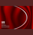 abstract red design of curves or cloth or liquid vector image