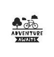 adventure awaits lettering inspiration quote vector image