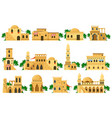 arabic oriental traditional mud brick architecture vector image