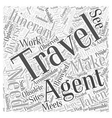 are travel agents obsolete word cloud concept vector image vector image