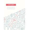 Art Class - line design brochure poster template