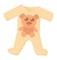Baby rompers icon cartoon style vector image vector image