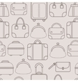 Bags Hand bags and Luggage for travel Seamless vector image vector image