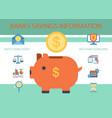 bank savings information banner vector image