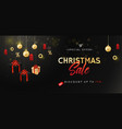 banner for christmas sale vector image