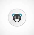 bear toy face icon 2 colored vector image