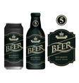 beer label on beer can and bottle vector image vector image