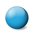 blue glossy sphere ball or orb 3d object vector image