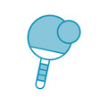 Blue ping pong paddle and ball vector image