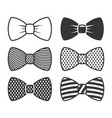 bow tie icons set on white background vector image