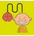 boy kid brain cable idea vector image