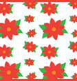 christmas poinsettia flower decoration traditional vector image