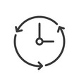 clock and arrow icon pixel perfect outline design vector image vector image