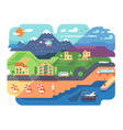 coastal resort town vector image