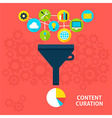 Content Curation Flat Concept vector image vector image