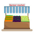 counter with a canopy with vegetables vector image