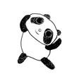 cute happy panda sketch style vector image vector image