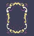 decorative fairy tale frame vector image