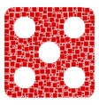 dice collage of squares and circles vector image