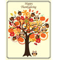 fall tree thanksgiving vector image vector image