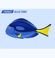 fish character cartoon vector image vector image
