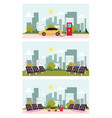 flat alternative power sneces set vector image vector image
