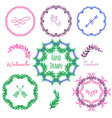 hand drawn set green eco organic vegan vector image