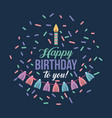 happy birthday kawaii background vector image vector image