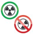 Hazard permission signs set vector image vector image
