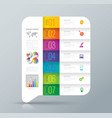 infographics design with 7 options vector image vector image