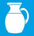 jug of milk icon white vector image vector image