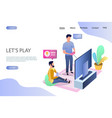 lets play website landing page design vector image vector image