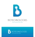 letter b with molecules vector image vector image